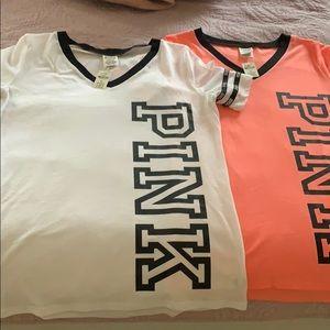 New Pink V Neck Shirts 👚